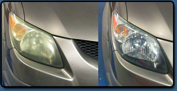 Headlight restoration in Miami