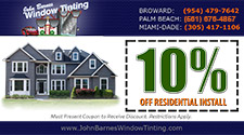 10% OFF Residential Install